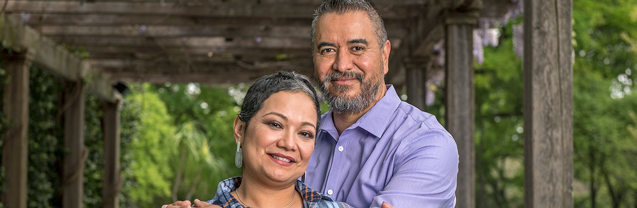 C. Balderas with Husband